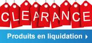 Produits en liquidation