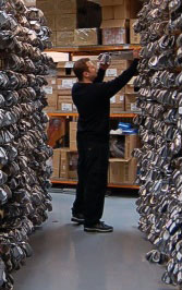 Clubs being picked in warehouse