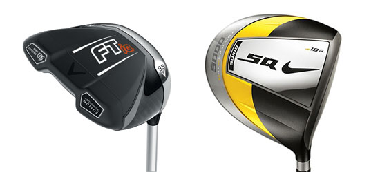 Callaway FT-iQ (Squared) and a Nike Sumo 5000 (Traditional) drivers