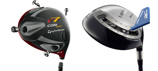 TaylorMade CBG Max and Mizuno MP-600 drivers