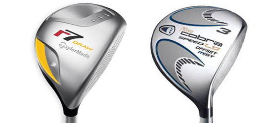 TaylorMade r7 Draw and Cobra M Speed LD Offset