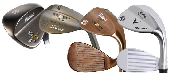 Different wedge finishes