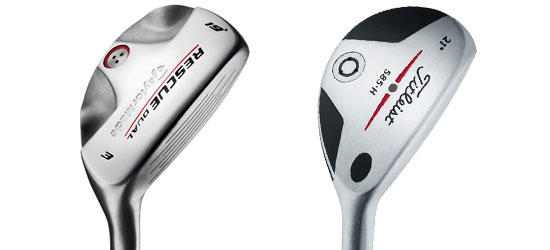 TaylorMade Rescue Dual and Titleist 585.H hybrids