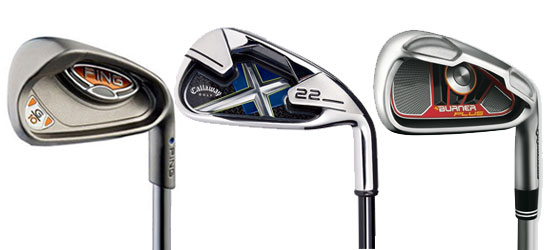 Ping G10, Callaway X-22 and TaylorMade Burner PLus irons