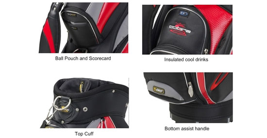 The different pockets you could find on your Golf Bag