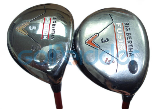 Genuine and Counterfeit Callaway Fusion Fairway - sole