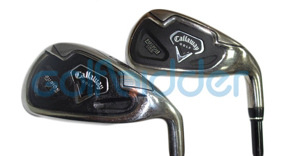 Genuine and Counterfeit Callaway Fusion Wide Sole irons - cavity