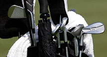 Phil Mickelson's bag and clubs