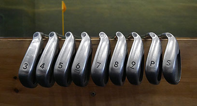 How many golf clubs are in a 3-SW set of irons?