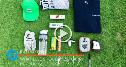 What else should you carry in your golf bag?